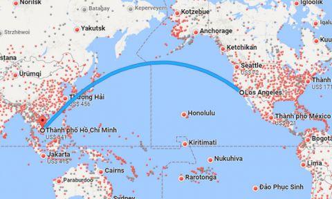 Thời gian bay từ Los Angeles về Việt Nam
